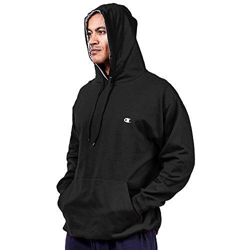 Champion Big & Tall Men's Pullover Fleece Hoodie with Contrast Liner 2XLT Black Tall Mens Fleece