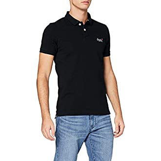 Superdry Classic Pique Short Sleeve Polo, Noir (Black 02A), 3XL Homme