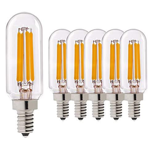 T8 / T25 LED Glühlampe E14 Sockel, Genixgreen 4W Edison LED Glühlampe mit 40 Watt Äquivalent 2700k warmweiß Vintage Restaurierungs Hardware Stil Glühlampe Nicht dimmbar 6pack -