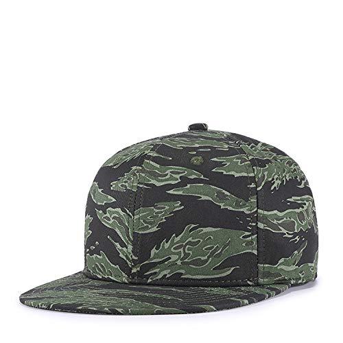 shunlidas Hüte Dekorationen Fischerhuthochwertiger Tide Hat Bare Camouflage Flat Rim Hut, Verstellbar, Militärgrün