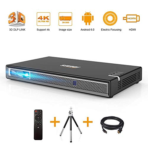 Beamer,JOEAIS Mini Projektor Handy Pocket Beamer Full Hd 3D Multimedia-Heimkino Mini Beamer Unterstützung 1080P und 4K, Kompatibel mit TV-Stick, PS3, PS4, HDMI, USB, Laptop, Smartphone