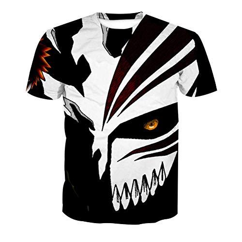 SPONSOKT T-Shirt Klassisch Männer,Anime Maske 3D Digitales Drucken Jugend Sport T-Stück,Rundhals Atmungsaktiv Trend Kurze Ärmel Unterhemd Gerade / A1 / XXXL -