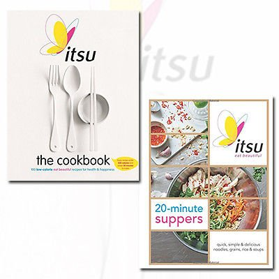 Itsu 20-minute Suppers and Itsu the Cookbook 2 Books Bundle Collection (Quick, Simple & Delicious Noodles, Grains, Rice & Soups [Hardcover],100 Low-Calorie Eat Beautiful Recipes for Health & Happiness. Every Recipe under 300 Calories and under 30 Minutes to Make)