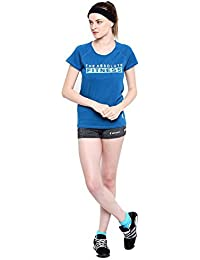 Mevofit (USA) Women's Round Neck T-Shirt Summer Training Gyming T-Shirt Specially Designed for Women Exercise_Jogging Tees for Woman Running | Womans Cotton Sports T-Shirt