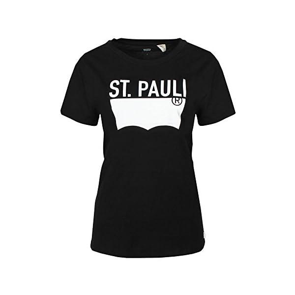 Levi's Mujer T-Shirt The tee ST Pauli Negro