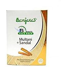 Multani Mitti Con Sandalo impacco di Banjara Per Cancella & Soft pelle 100 g (5 bustine Inside) pzhGgW
