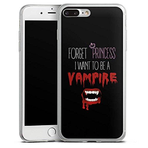 Apple iPhone 5 Slim Case Silikon Hülle Schutzhülle Hallowen Spruch Vampir Silikon Slim Case transparent