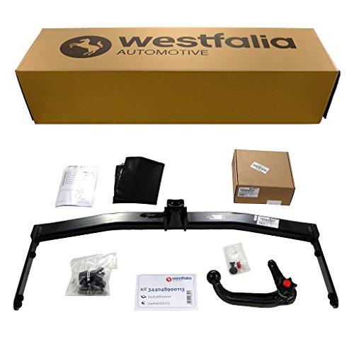 Westfalia Abnehmbare Anhängerkupplung für Altea XL und Freetrack (BJ 10/2006-12/2015) im Set mit 13-poligem fahrzeugspezifischen Elektrosatz