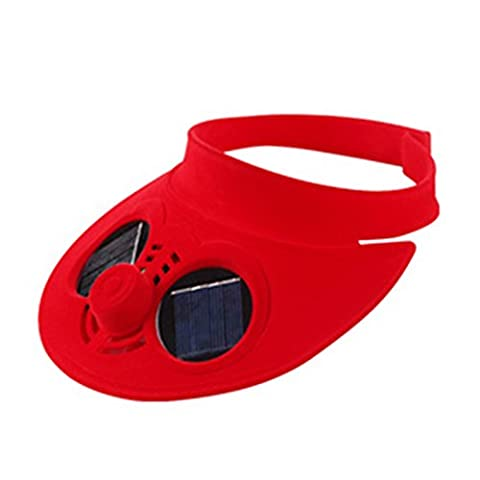 LanLan Summer Sports Cap Empty Top Baseball Hat with Solar Powered Fan Cooling Fan Cap for Camping Traveling Outdoor Activities