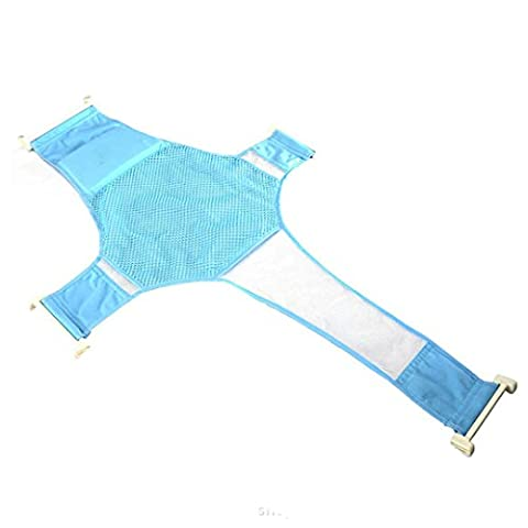Cuddty Coton nouveau-né réglable de massage en maille antidérapant Tapis de baignoire Assise Écharpe de filet de sécurité pour le bain de lit Tapis de douche