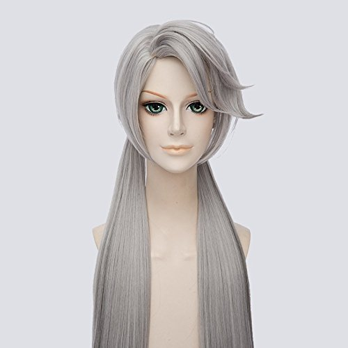 "35"" Long Straight Silver Grey Ombre Synthetic Hair Ponytails Wigs Zootopia / Zootropolis Anime Judy Hopps Cosplay Costume Wig"