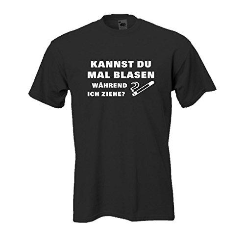 Kannst du mal blasen während ich ziehe, bedrucktes T-Shirt mit zweideutigem Spruch Spaß lustig witzig Funshirt Geschenk S-5XL Übergröße (FS116) Mehrfarbig