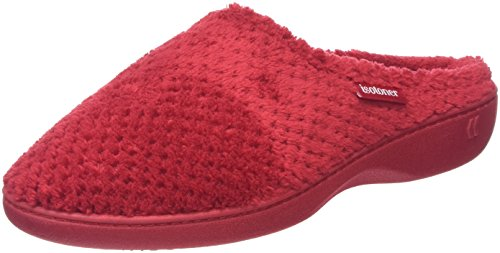 isotoner-popcorn-terry-chaussons-femme-rouge-rouge-395