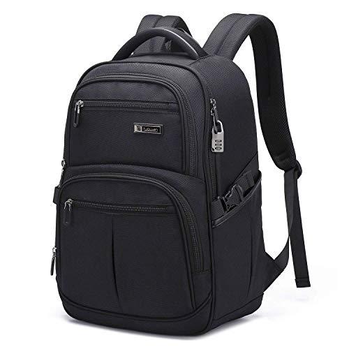 UBaymax Anti-diebstahl Laptop Rucksack 17 Zoll, Wasserdicht Computer Rucksack Schulrucksack Daypack, Grosser Business Arbeit Rucksack Taschen für Reisen/College/Frauen/Männer, Schwarz -