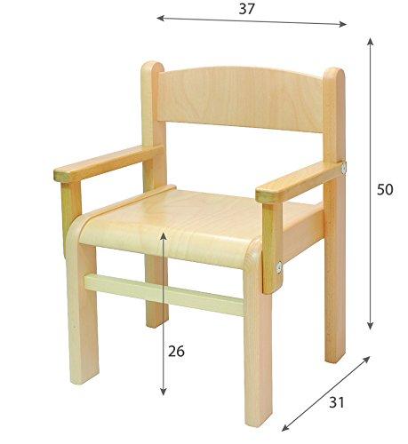 Obique Mobili in legno di faggio per bambini Set due sedie con ...