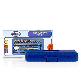 alca Ratschenkasten Werkzeugkoffer Werkzeugkasten Werkzeug Steckschlüssel Werkzeugset 17-teilig 408000