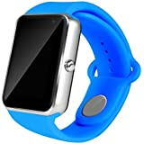 AIYIBEN U7 Bluetooth Touch pantalla Bluetooth 3.0 Smart watch muñeca reloj teléfono reloj Para iPhone Samsung Sony LG HTC y mucho más (Blue)