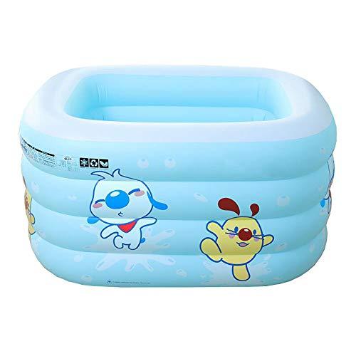 TINGTINGDIAN Baby Swimming Pool \ Haushalt Kunststoff Neugeborenen Baby Kind Kind Schwimmen Eimer \ Falten Halterung Isolierung Bad Eimer Blau