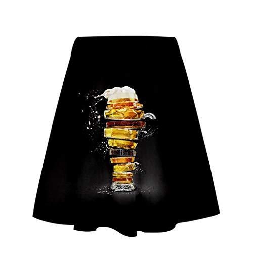 Kim Kleid Kostüm Wie Kardashian - Fannyfuny Rock Damen 3D Gedruckt Rock Skirt Oktoberfest Kostüm Casual Elegant Ballkleid Cocktail Kleider Party Kleider Sexy A-Linie Rock Mini Kleider Gelb,Orange,Schwarz,Grau,Weiß,Gold, S/M/L/XL/XXL