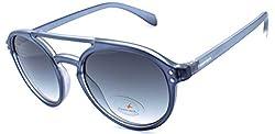 Fastrack Gradient Aviator Mens Sunglasses - (P363BK3|52|Black Color)