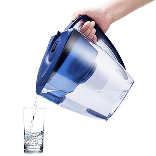 Gaone Alkalischer Wasser-Krug Alkalischer Wasser-Ionisator-Maschinen-Universalwasser-Filter-Krug Natürlicher und anziehender ionisierter Trinkwasser-Filter Kein restliches Chlor und Skala 3.2L - Alkalische Wasser-tropfen