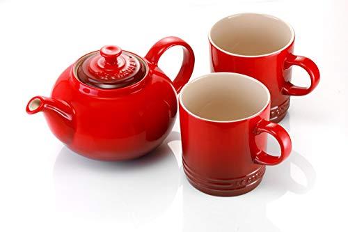 Le Creuset Steinzeug Klassische Teekanne 1,3 L, kirschrot - 3