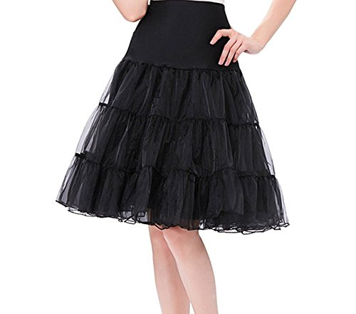 FeelinGirl 1950 Petticoat Reifrock Unterrock Petticoat Underskirt Crinoline für Rockabilly (Kostüme Indischen Size Plus)