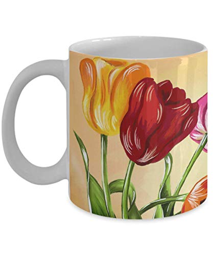 Tulip Mug - Gift Under $20 - Cute Colorful Flower Mug Tulip Müsli