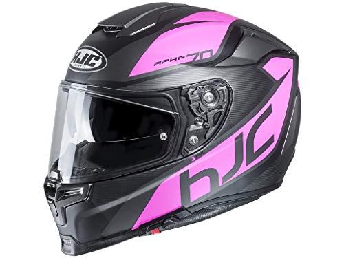 HJC RPHA 70 PINOT Motorrad Integralhelm Touring - matt schwarz grau pink XXS
