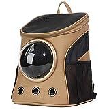 MdtgrSrltfh Tragbare Bubble Haustier Tragetasche,Transparente atmungsaktive Wasserdichte raumkapsel mesh Transport Rucksack für Katze Hund welpen zu Reisen -L S