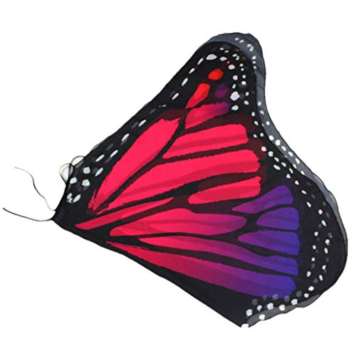 LOPILY Schmetterling Flügel Kostüme Mädchen Neckholder Schmetterling Umhang für Karneval Ausgefallene Faschingskostüme Schmetterling Poncho Kinder Klein Farbenfrohe Kostüme Bühnenkostüme