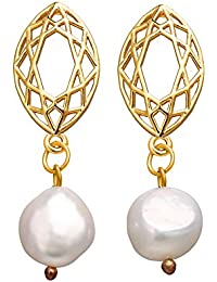 RONSHIN Women Casual All-matching Elegant Concise Imitation Pearl Earrings