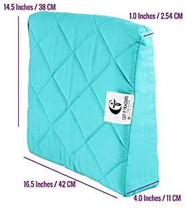 Get It Wedge Pregnancy Pillow with Quilted Cover (Extra Large Green)