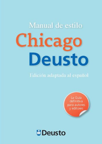 Manual de estilo chicago Deusto (Letras)