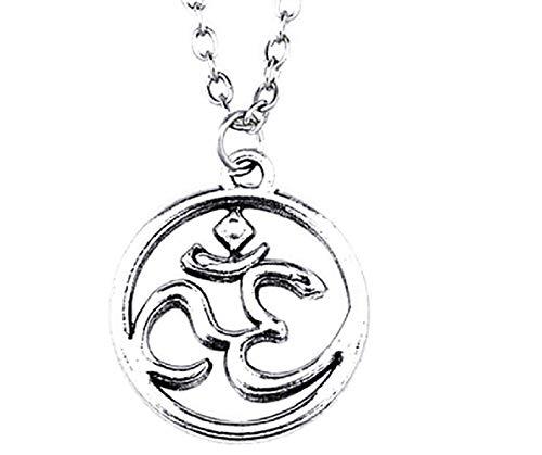 Collar–Colgante OM–mantra–Yoga–budismo–AUM–INDIO–mujer–hombre–Unisex