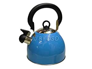 Prima 2.5L Stainless Steel Whistling Kettle in Blue 11122C