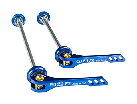 A2Z Unisex Cnc Quick Release with Ti Rod Skewer, Blue, 130 mm