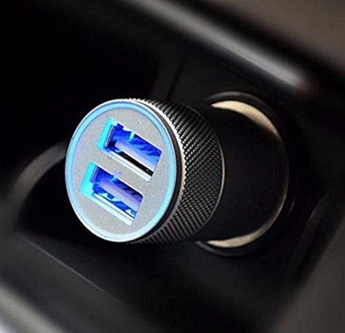 Cargador USB para mechero de coche, 2 tomas, 12 V, universal