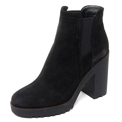 B8444 tronchetto donna HOGAN ROUTE 275 scarpa polacco nero boot shoe woman Nero