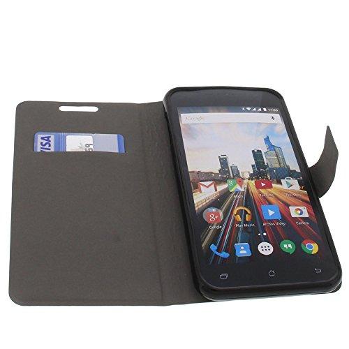 foto-kontor Tasche für Archos 55 Helium Plus Book Style Ultra-dünn Schutz Hülle Buch Schwarz