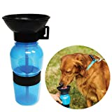 Baoii Dog Borraccia comprimibile Anti-Spill Pet Dog Bottiglia 500 ml Viaggi Bere Ciotola Portable Pet Bere Feeder (Blu)