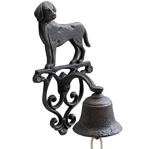 Annastore Glocke Gusseisen Wandmontage Türglocke Gartenglocke Katze Hund Vogel Farbe Hund
