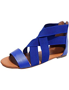 Sandalias para Mujer Verano 2018 PAOLIAN Playa Romano Sandalias de Vestir Zapatos de Plano Correa del Lazo Fiesta...