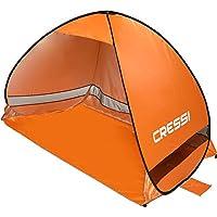 Cressi Beach Tent Tiendas de Playa, Naranja, 200x120x130 cm