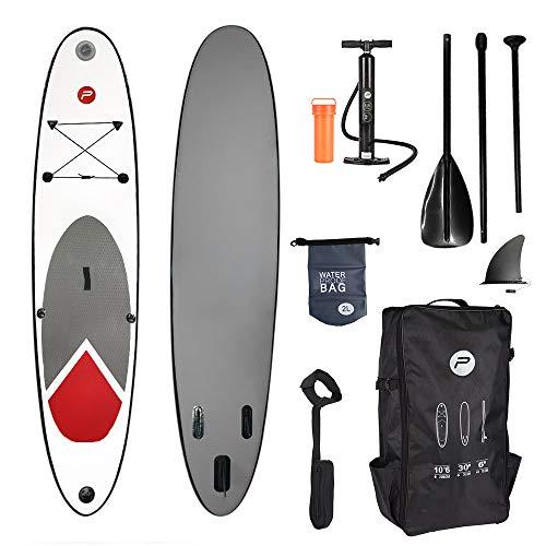 Pure² 2 Improve professionelles Stand Up Paddel Board 320 cm - SUP - komplettes Set mit Pumpe, Flickwerkzeug, Fußleine, verstellbares Paddel und wasserdichte 2L Tasche - Zwei-board