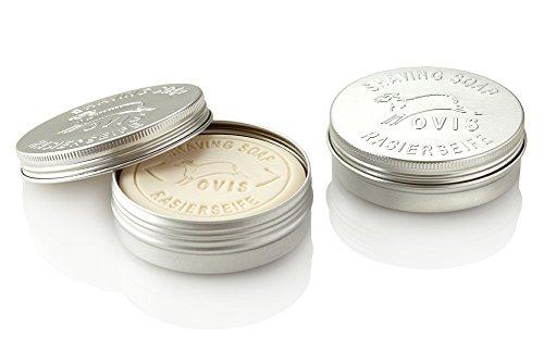 Ovis-Rasierseife 100 g in Aludose verpackt 8,5 cm -