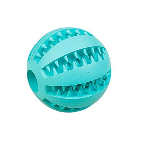 KDSANSO Hunde Gummiball mit Zahnpflege-Funktion Hundespielzeug und Kauspielzeug aus Naturkautschuk, Hundespielball für Große & Kleine Hunde, Hellblau Diam 7cm