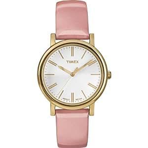 Timex Damen-Armbanduhr XS Originals Classic Round Analog Quarz Leder T2P332