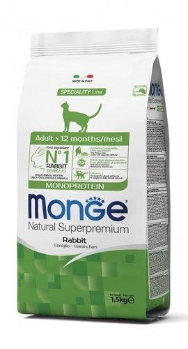 Monge gatto adult Natural Superpremium monoproteico al coniglio 1,5 kg