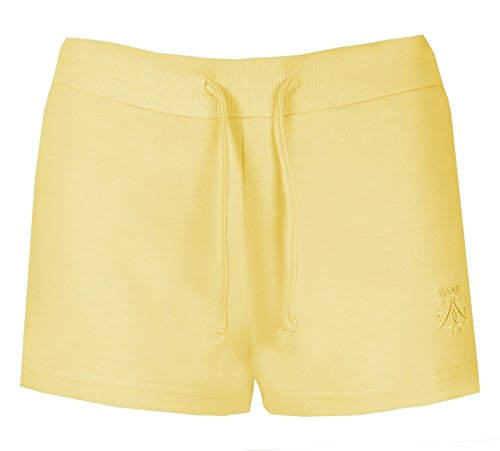 Damen Shorts Beach By Brody & Co ® Sommer Jersey, Baumwolle, Hot Pants Beach Gelb - Gelb